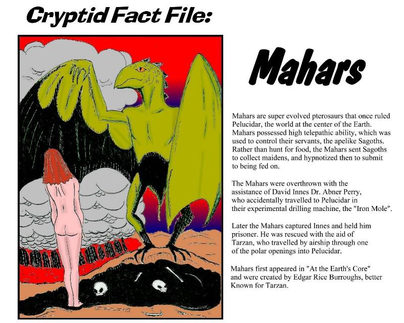 Cryptid Fact File - Mahars (by Lee Lines)